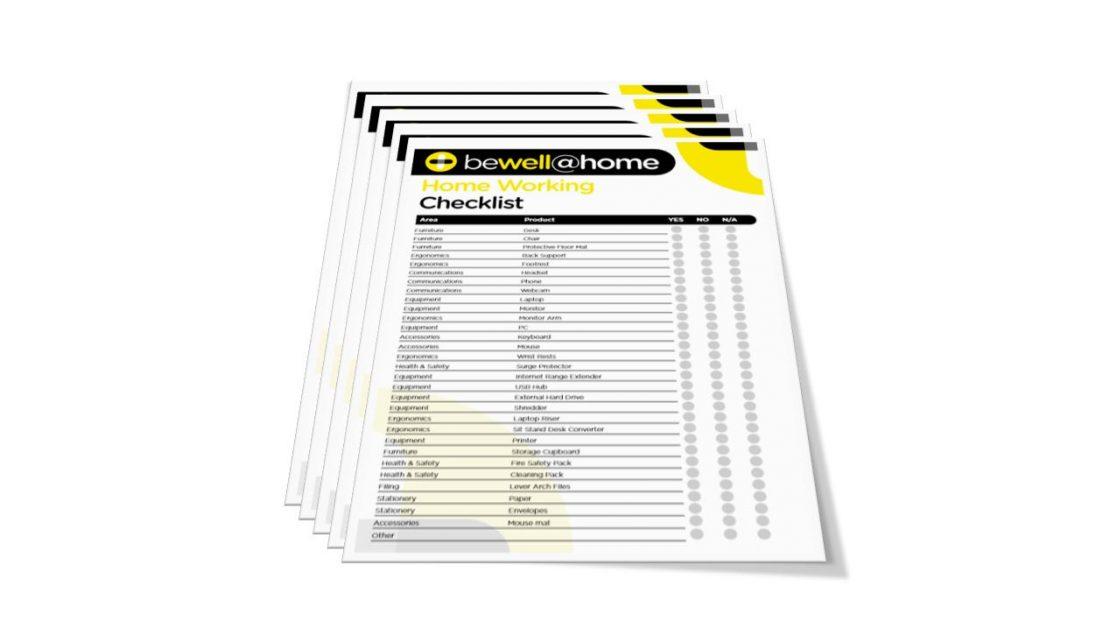 home working checklist